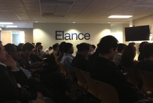 Elance Presentation! / engajer recently had the opportunity to present in front of a captive crowd at Elance to a rousing reception!