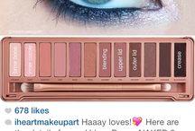Make up green eyes