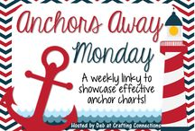 Anchors Away Monday:  Blog Linky / These are the anchor charts that I have created AND my blog friends have linked up and shared!