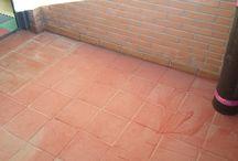 Terraza exterior con tarima de pino tratado / Suelo de madera