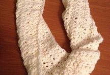 Crochet scarves, cowls