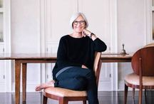 Eileen Fisher / Eileen Fisher is an American Eco -friendly designer with a minimalist and modern aesthetic whose looks cross over to any age group and so many body shapes.  A premier line at Shepherd's!!