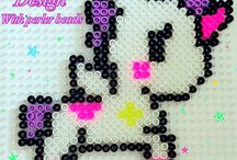 My own designs / my own design with hama beads or perler beads