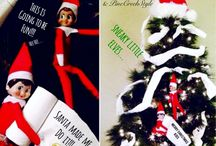 Elf-Capades / The Elf on the shelf is busy with his escapades! Photos of fun Christmas Elf ideas