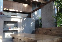 Living room / Simple cheap material, reused door
