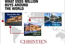 What $5M buys globally / Explore what US$5 million can buy you around the world, from a  2,012 sq ft  square foot apartment in Paris to a 15,000 square foot manor in Ireland...  See more in Luxury Defined, our 2014 white paper on the global luxury real estate market: http://www.christiesrealestate.com/eng/luxury-defined