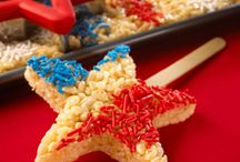 Fourth of July / Rice Krispies  / by Sylvia Kitchen