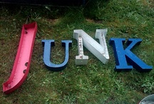Junk / Things made from old junk. / by Jody Scarborough