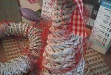 paper knitting -  papierove pletenie II. / My own paper knitting work - Moje vlastne vyrobky z papierovych ruliciek