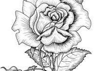dibujos blanco y negro