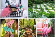 Le jardin d'Alice / Banque d'image pour la réalisation d'un jardin sur la thématique d'Alice