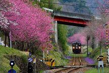 vlaky - Asie