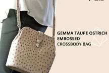 """Gemma Taupe Ostrich embossed Italian leather Cross body bag / Gemma Taupe Ostrich embossed Italian leather Cross body bag back by popular demand ...a neutral colour that will match with all colour ways a must have item perfect for all age groups...  Get the Look !!  http://www.marlafiji.com/bags/shoulder-bag/gemma-taupe-ostrich-embossed-italian-leather-crossbody-bag-detail.html  www.marlafiji.com   """"FREE SHIPPING WITHIN AUSTRALIA""""!!  #marlafiji #TopModel #Italianleatherhandbags"""