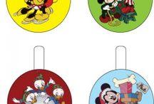 Disney jul: gavemærker, klistermærker og kort.