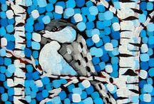 Chickadee Paintings
