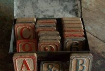 All About Vintage Blocks, Toys, & Flashcards / by Brandi Moore-Declue