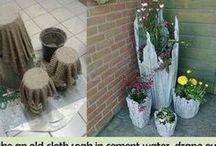 Cement Cloth Planters