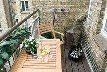Lösungen schmaler Balkon