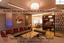 Stylish flats and apartments in ATS casa Espana / Well-Planned lavish #Apartment with an Inviting Interior Design in ATS #CasaEspana in #Mohali. Call Now : 9888449029
