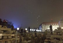 Berlin Wall 25th anniversary - Lichtgrenze / These are pictures of the installation #Lichtgrenze in Berlin for 25th anniversary of the fall of the #BerlinWall.