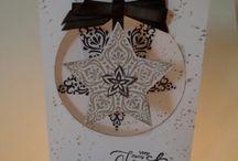 zelfgemaakte kerstkaarten / Zelfgemaakte kaarten met als thema Kerst