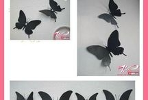 Fal dísz pillangó stb