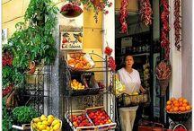 veggie ` fruits stall