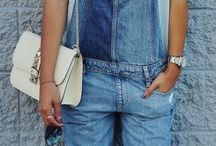 Denim dungarees / Outfit inspiration