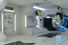 interior design of space station