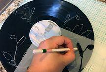 vinylové desky, ciferníky