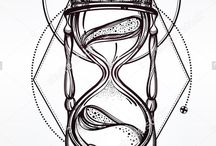 hour glass tattoo ideas