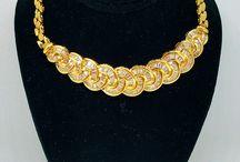 18K YELLOW GOLD DIAMOND INTERTWINE NECKLACE