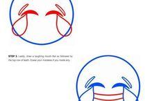 как рисовать смайлики