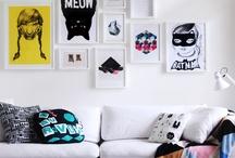 INTERIOR DESIGN / Modern(ish), playful / black, white, modern, simple, geometric