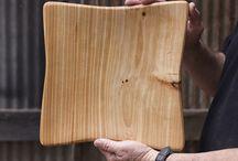 Wood serving board