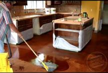Home - Staining concrete floors / Flooring alternative