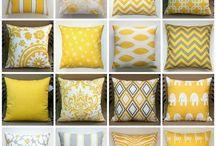 Amarillo + Blanco / La mezcla de amarillo y blanco se asocia tradicionalmente a la decoración provenzal francesa... sin embargo, hay un sinfín de posibilidades mucho más innovadoras en esta combinación... ¿Te atreves?