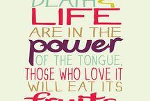 Words to live by / by Keri Spradley