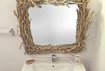 Driftwood Mirrors / http://seawoodlight.eu
