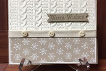 stampin up cable knit embossing