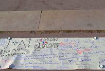 #prayforparis in Lyon / A few pics I took in Lyon after 13/11