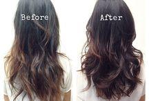 Roupas e cabelos