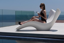 """COLLECTION SURF / surfCollection. """"Chaise-longue of vibrant forms and full of freshness that wakes up a new global dynamism. Forms that perfectly adapt to the body and create a rest space drived by the calm and the soft surf that its compound. Each piece is manufacturered to support the most extreme weather conditions… by Karim  / by Vondom"""