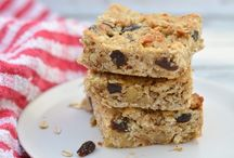 all kinds of granola bars / perfect for mid-morning snack