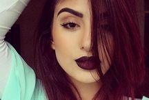 Dark burgundy hair