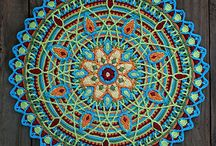 Crochet Mandalas / Wall Art or Squares for Blankets