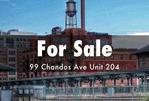 For Sale: 99 Chandos Ave Unit 204, Hard Loft / Jaw dropping loft with almost 900 sq ft of luxury. One bedroom with parking, and a true loft conversion. Toronto, real estate / by Realty Queen TO