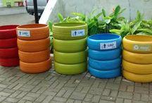 reciclável de pneu