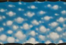"""ANTONIO CARENA / """"Ho disopacizzato uno spazio neutro in virtù della nuvolazione che tipicizza il mio """"modus operandi"""", fabbricativo di un cielismo finzionale, non protesico della naturalità ma afferente ad una sromantica operazione in vitro."""""""