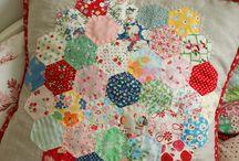 patchwork polštářky bloky
